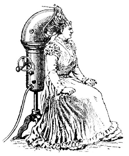 französische Erfindungen  der Föhn