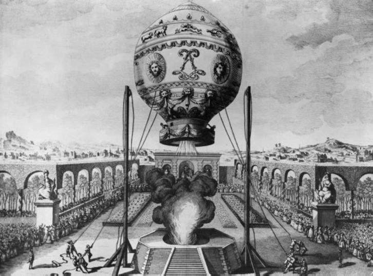 Heißluftballon französische Erfindungen