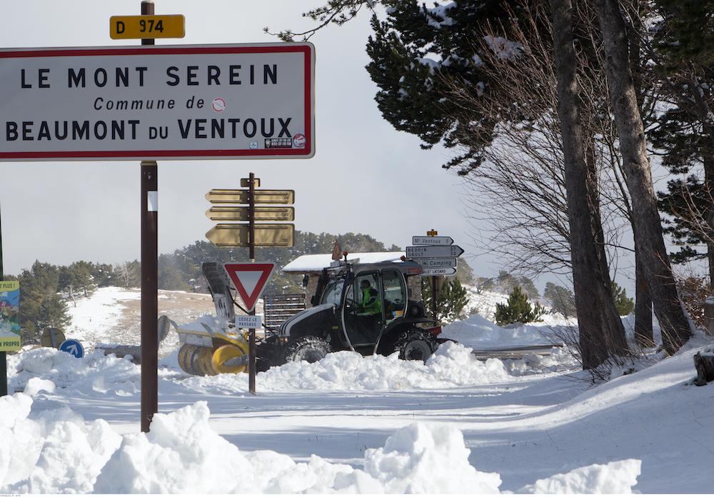 Mont Ventoux Provence Schnee