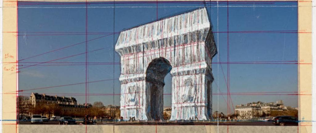 Arc de Triomphe Christo Parijs