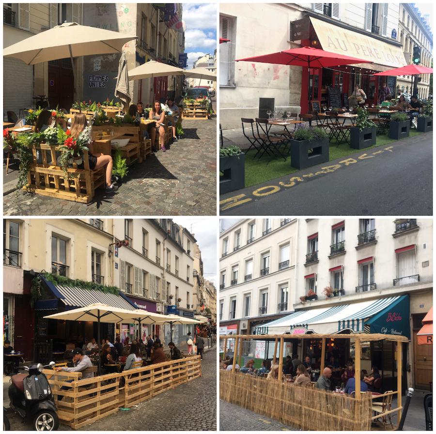Paris Straßencafés Sommer