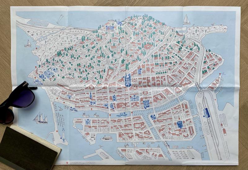 Karte Sète